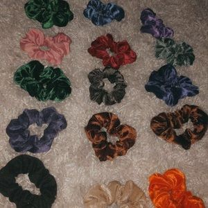 variety colour scrunchies